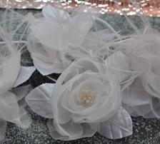 Flores de tecido para Vestidos