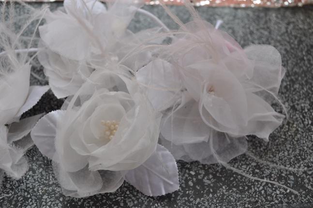 Flores de Tecido para Vestidos e Grinaldas- sob encomenda
