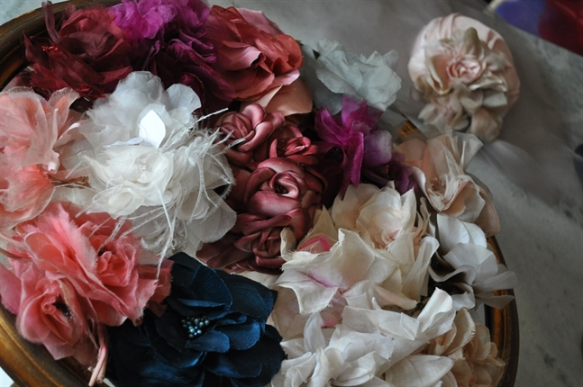 Flores de Tecido para Vestidos e Chapéus